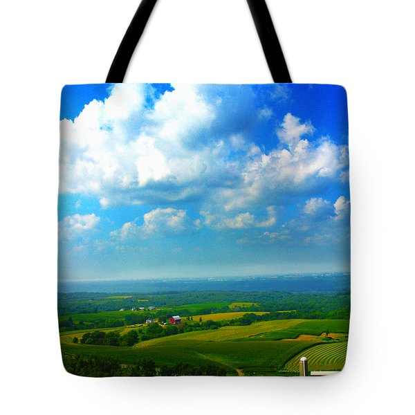 Eyes Over Farmland Tote Bag