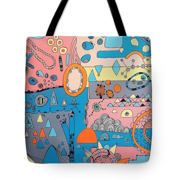 Eyeshut Scene Tote Bag by Susan Claire