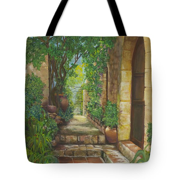Eze Village Tote Bag by Alika Kumar