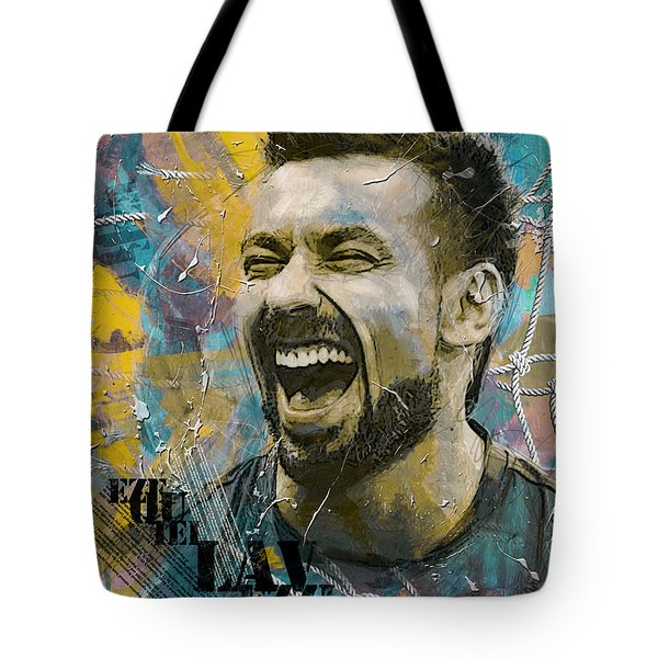 Ezequiel Lavezzi Tote Bag by Corporate Art Task Force