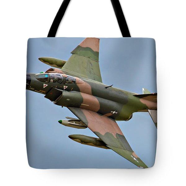 F-4 Phantom II Tote Bag by Bill Lindsay