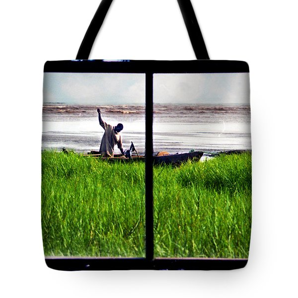 Fisherman Window Framed Tote Bag