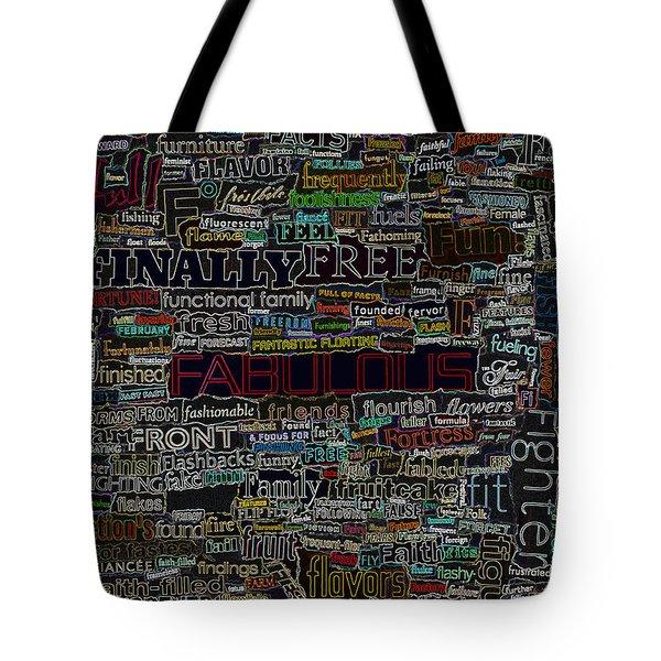 F - Words Tote Bag
