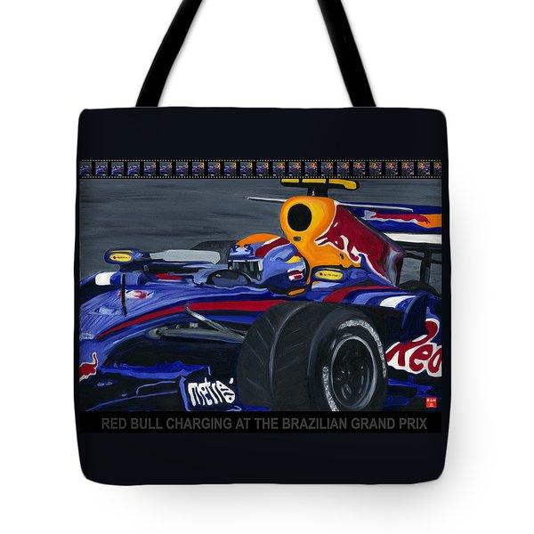 F1 Rbr At The Brazilian Grand Prix Tote Bag