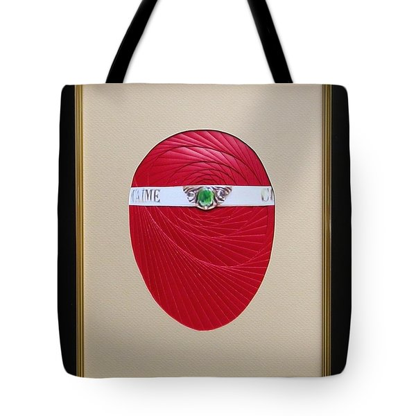 Tote Bag featuring the mixed media Faberge Egg 1 by Ron Davidson