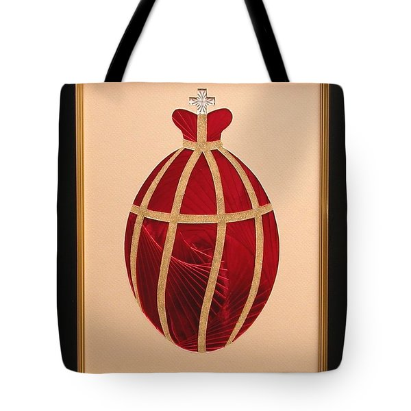 Tote Bag featuring the mixed media Faberge Egg 2 by Ron Davidson