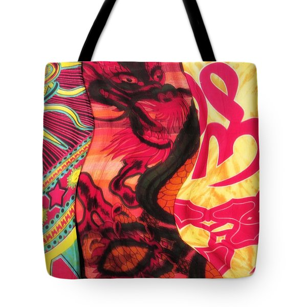 Fabric Collision Tote Bag by Alec Drake