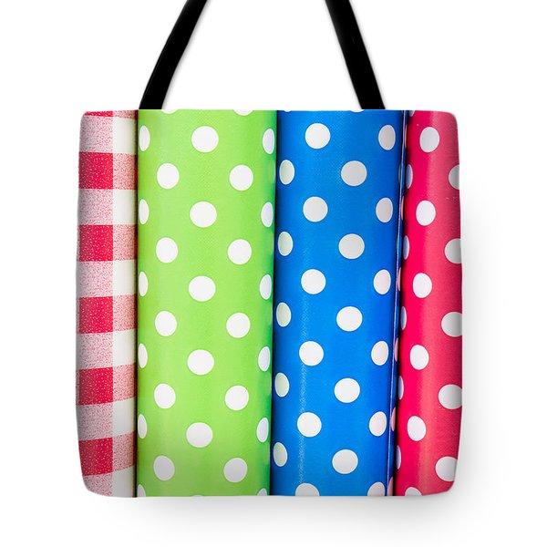 Fabrics Tote Bag by Tom Gowanlock