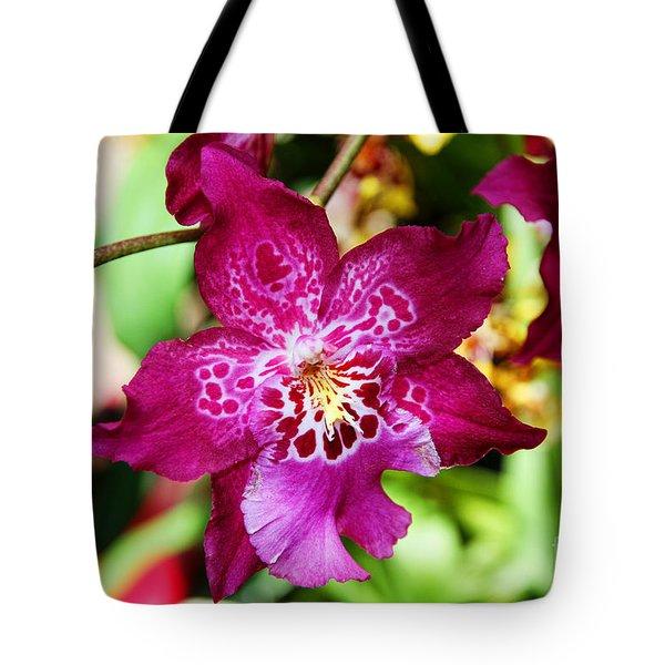 Fabulous Fushia Orchids By Diana Sainz Tote Bag
