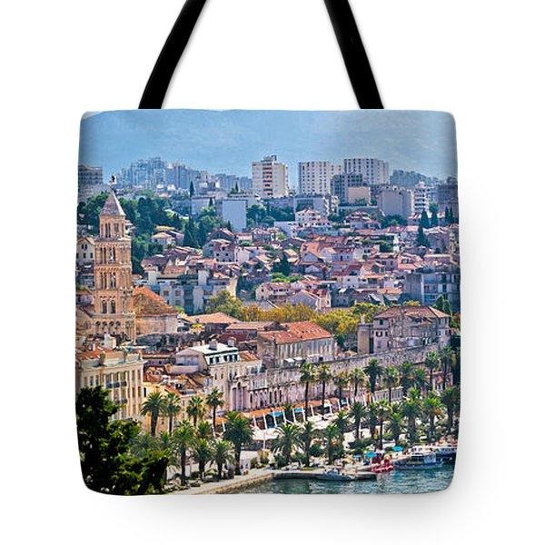 Fabulous Split Waterfront Aerial Panorama Tote Bag