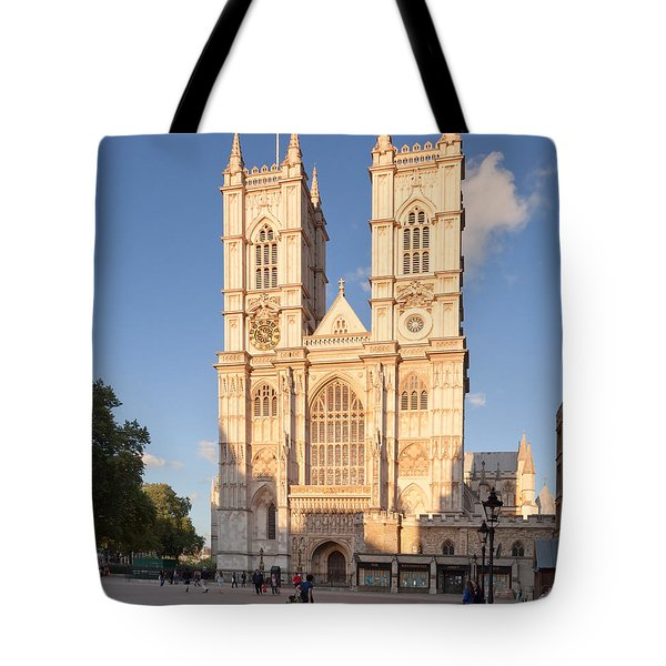 Facade Of A Cathedral, Westminster Tote Bag