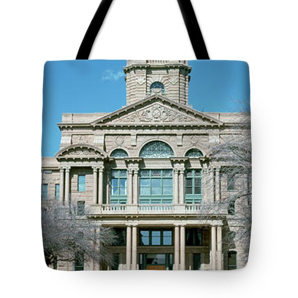 Facade Of A Courthouse, Tarrant County Tote Bag