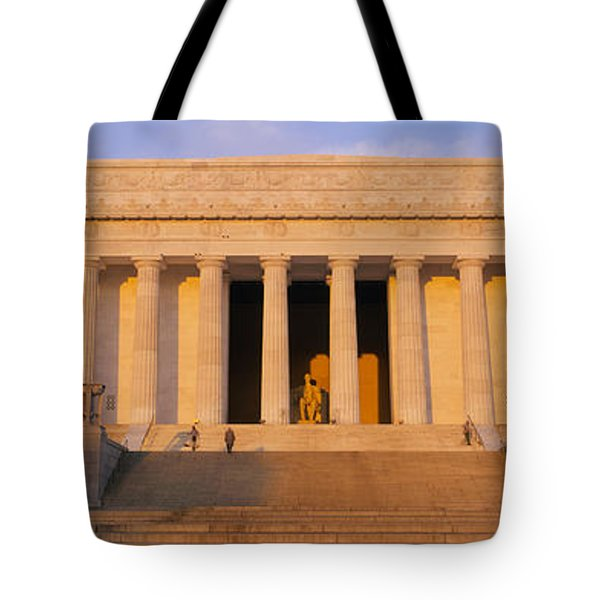 Facade Of A Memorial Building, Lincoln Tote Bag by Panoramic Images