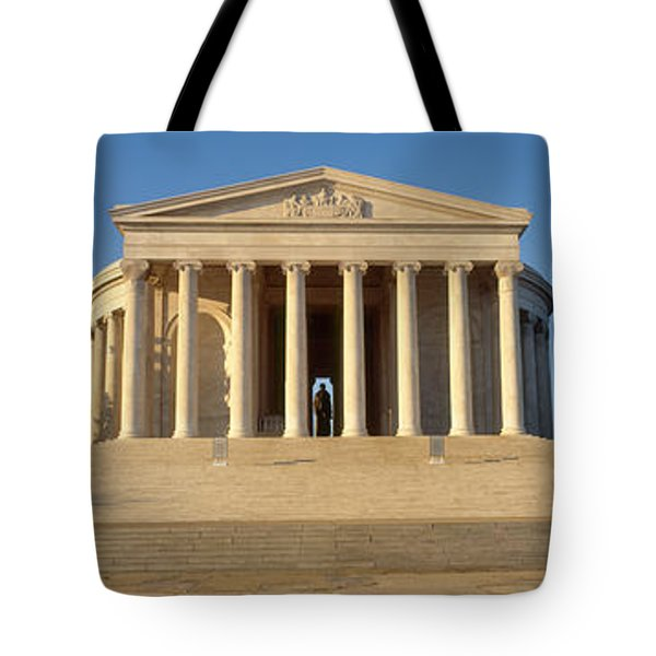 Facade Of A Memorial, Jefferson Tote Bag by Panoramic Images