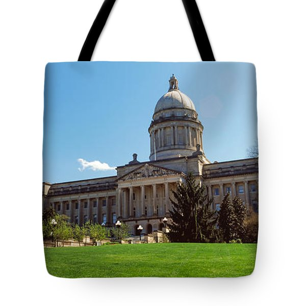 Facade Of State Capitol Building Tote Bag