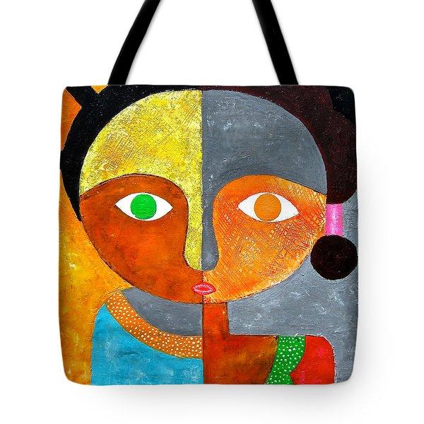 Face 2 Tote Bag