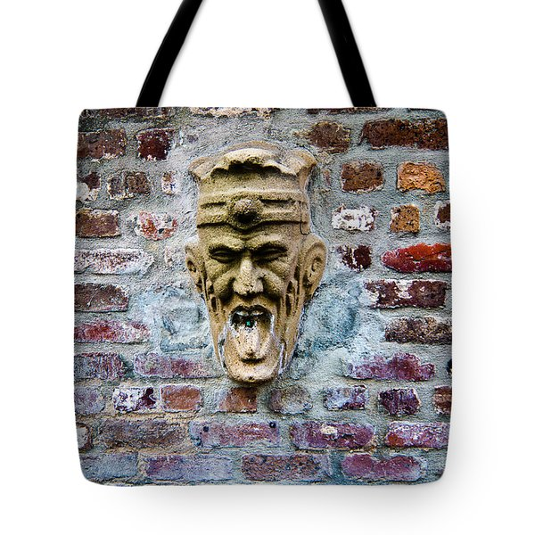 Face Fountain In Pirates Courtyard Tote Bag