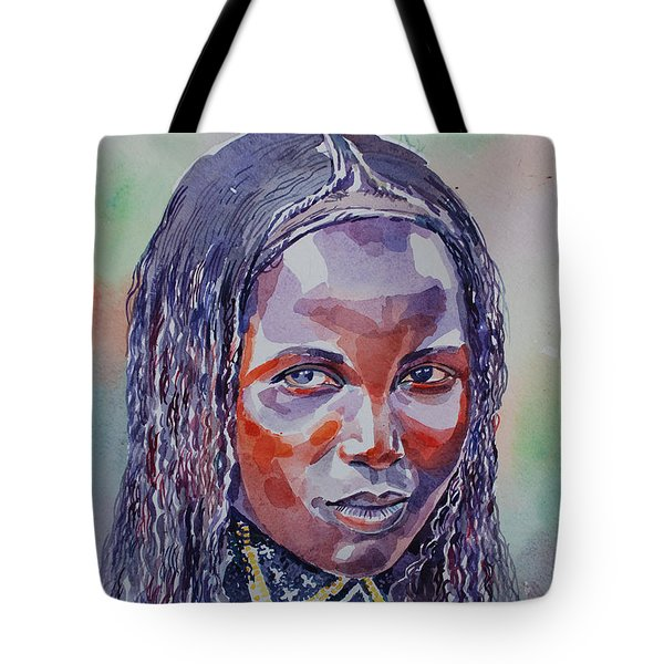 Face From Sudan  1 Tote Bag by Mohamed Fadul