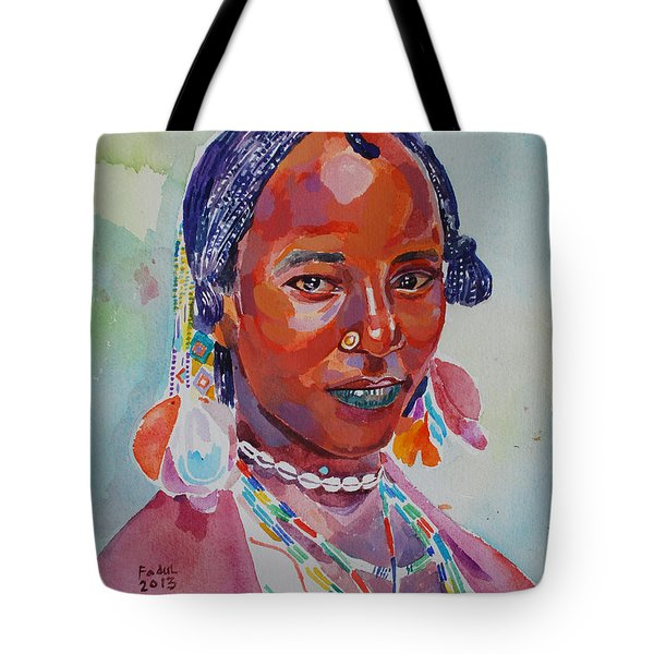 Face From Sudan  2 Tote Bag by Mohamed Fadul