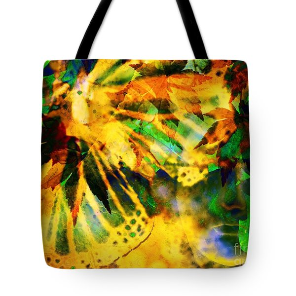 Face In The Rock Conjures Leaves Into Butterfly Tote Bag