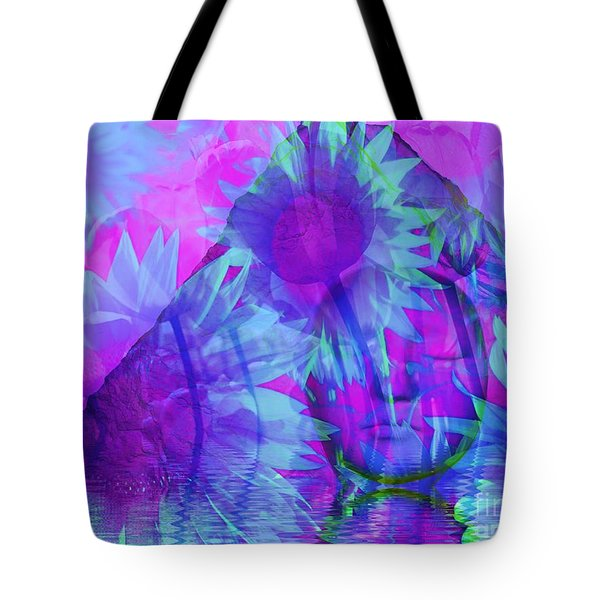 Face In The Rock Dreams Of Sunflowers Tote Bag