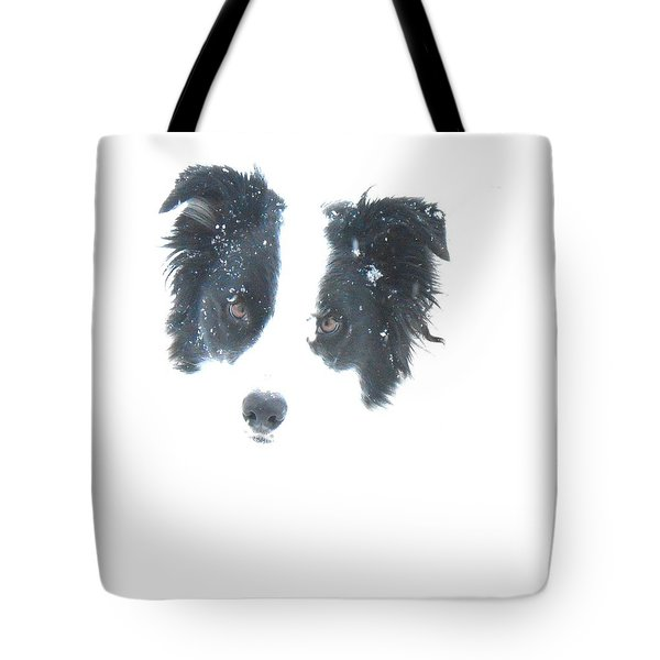 Tote Bag featuring the digital art Face In The Snow by Aliceann Carlton