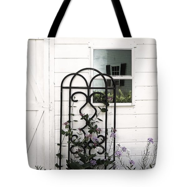 Tote Bag featuring the photograph Face In The Window by Brooke T Ryan