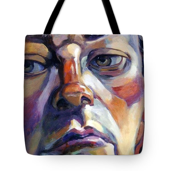 Face Of A Man Tote Bag