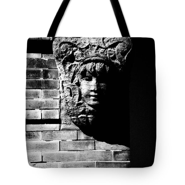 Face Of Stone Tote Bag by Karol Livote