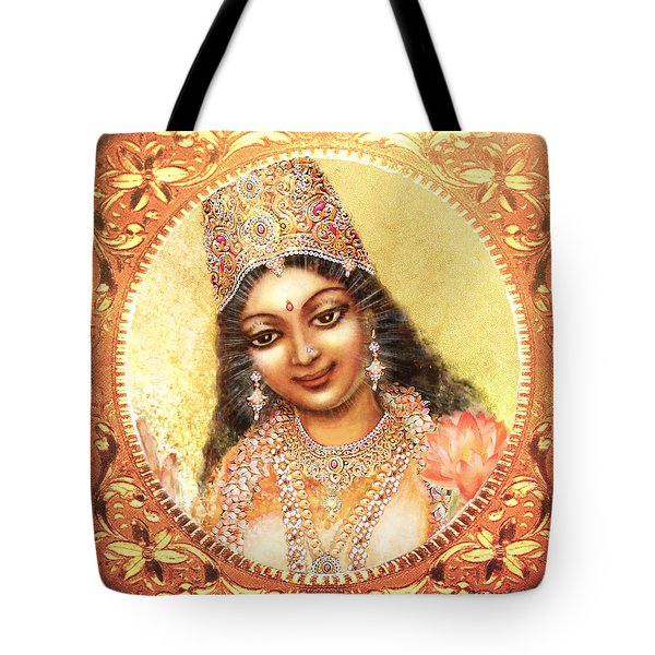 Face Of The Goddess - Lalitha Devi  Tote Bag