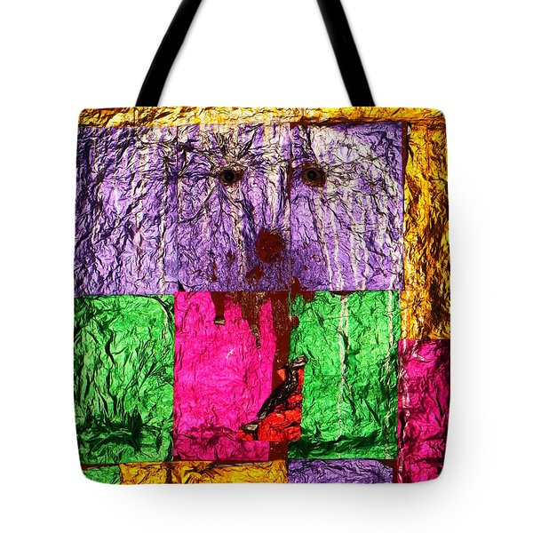 Face Of The Invisible - Ajaypal Temple Tote Bag by Agnieszka Ledwon