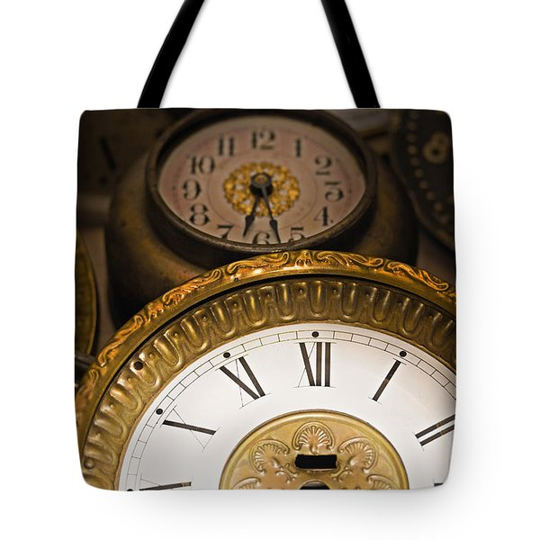 Face Of Time Tote Bag by Tom Gari Gallery-Three-Photography
