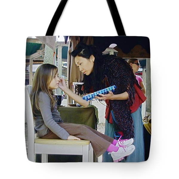 Face Painting Tote Bag by Brian Wallace