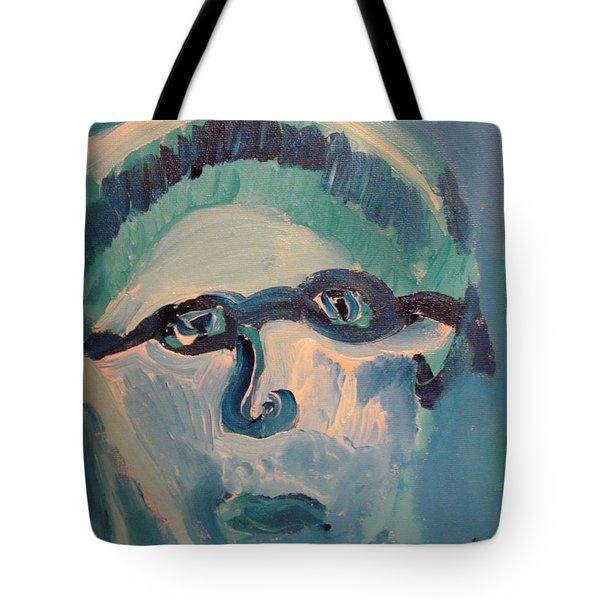 Face Three As Grandpa Snowman Tote Bag