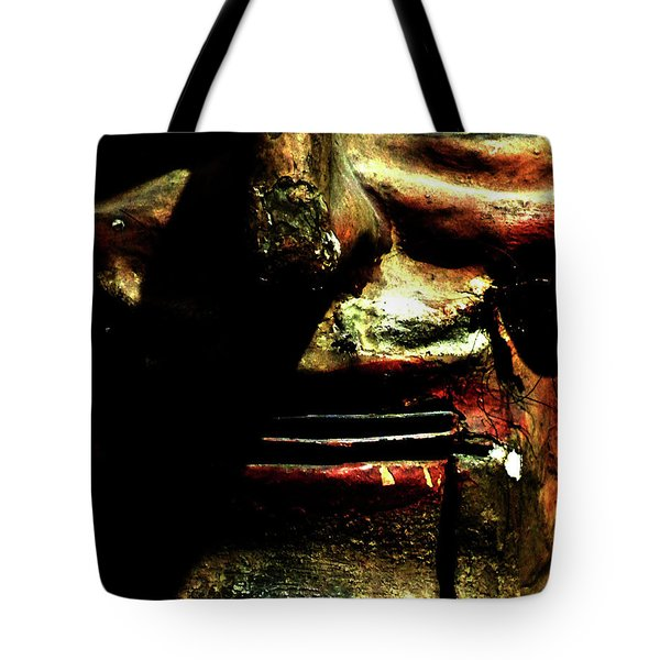 Tote Bag featuring the photograph Face Time by Newel Hunter
