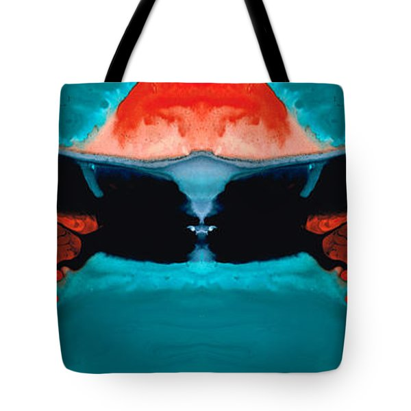 Face To Face - Abstract Art By Sharon Cummings Tote Bag by Sharon Cummings