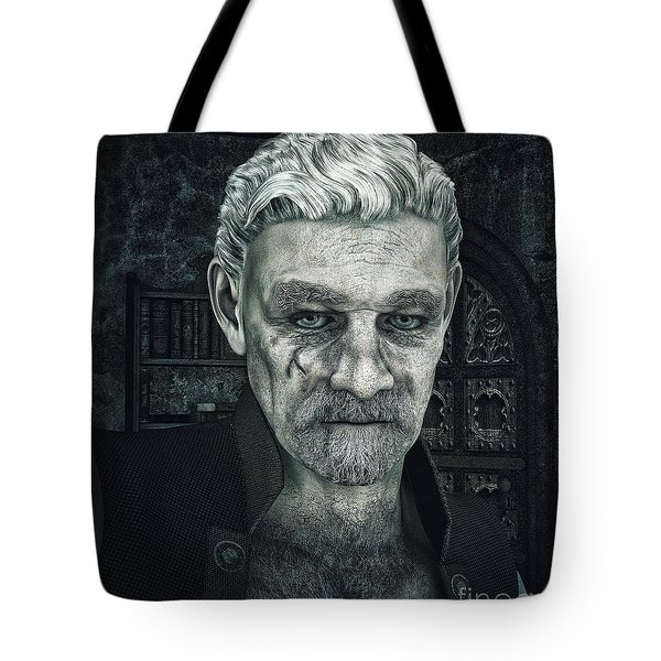Face With A Story In It Tote Bag by Jutta Maria Pusl