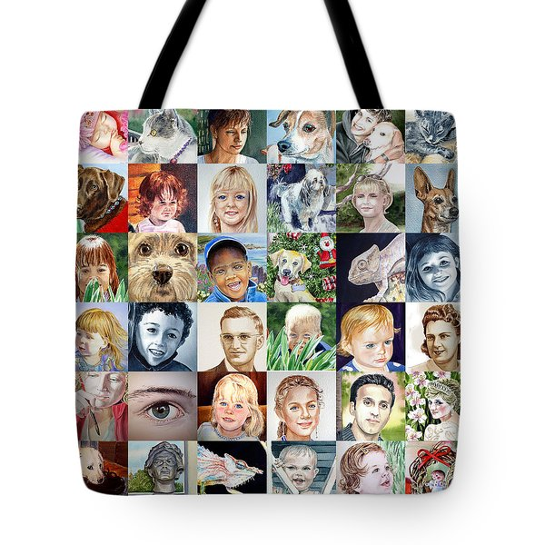 Facebook Of Faces Tote Bag