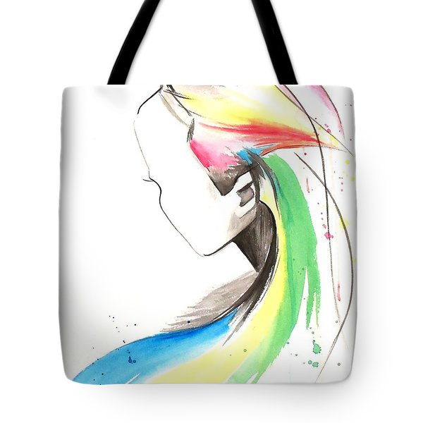 Faceless Tote Bag by Oddball Art Co by Lizzy Love
