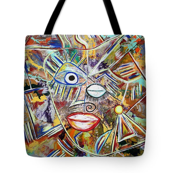 Faces In Life - Just Smile Tote Bag
