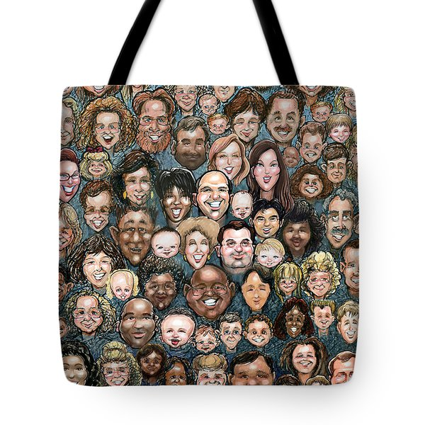 Faces Of Humanity Tote Bag