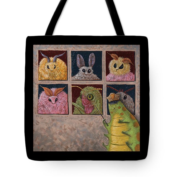 Faces Of Moth Tote Bag by Holly Wood