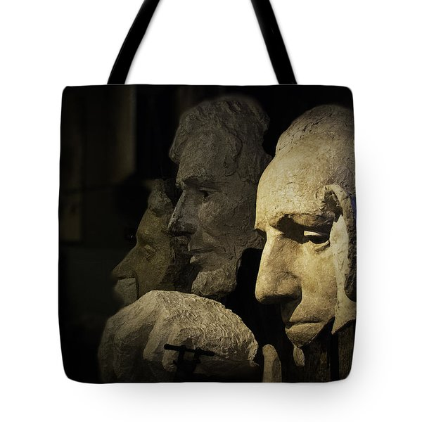 Faces Of Rushmore Tote Bag