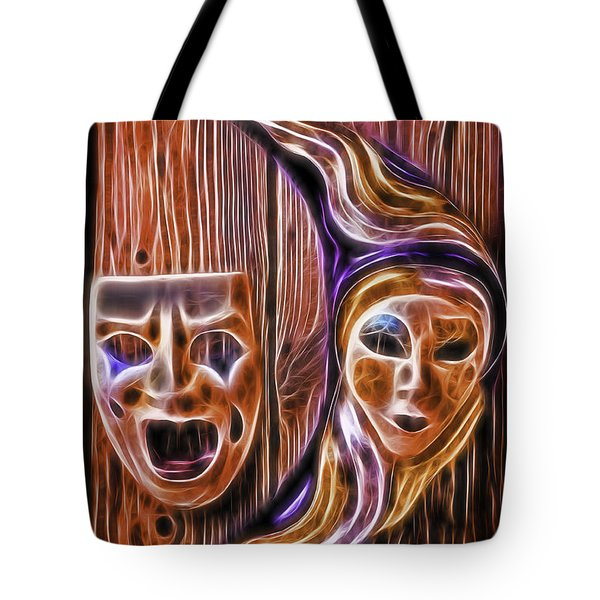 Faces On The Wall Tote Bag