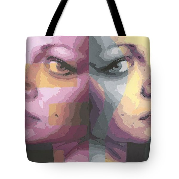 Faces Tote Bag by Rachel Hames