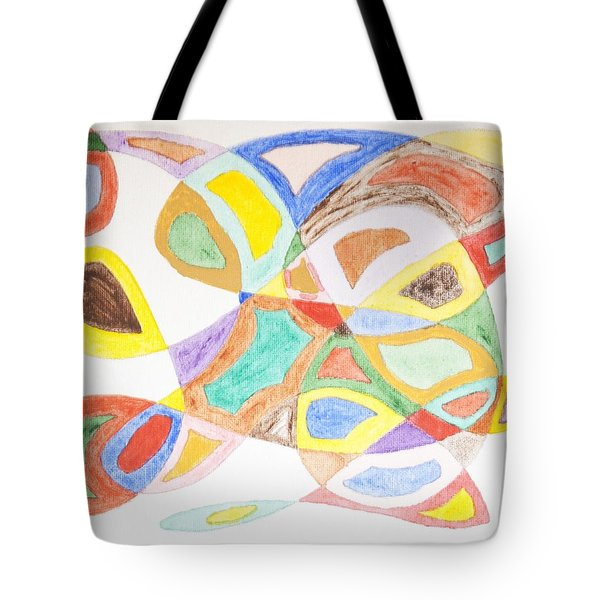 Tote Bag featuring the painting Masks by Stormm Bradshaw