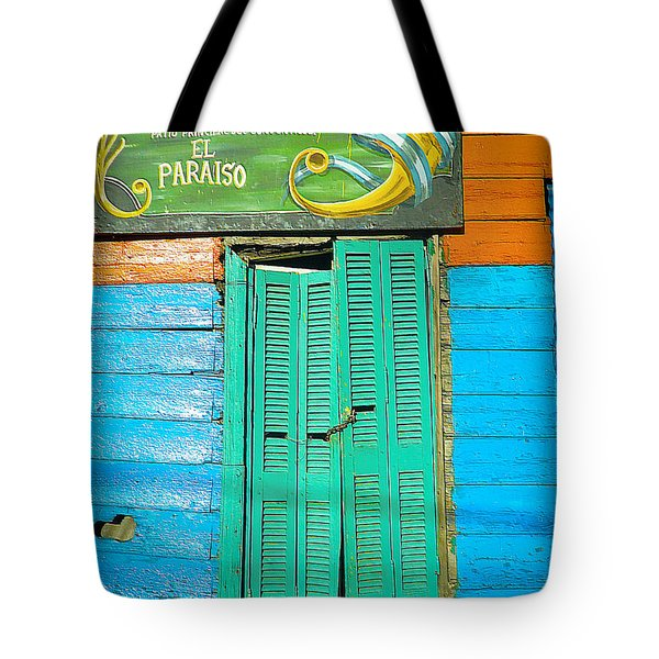 Tote Bag featuring the photograph Fachada De Conventillo by Silvia Bruno