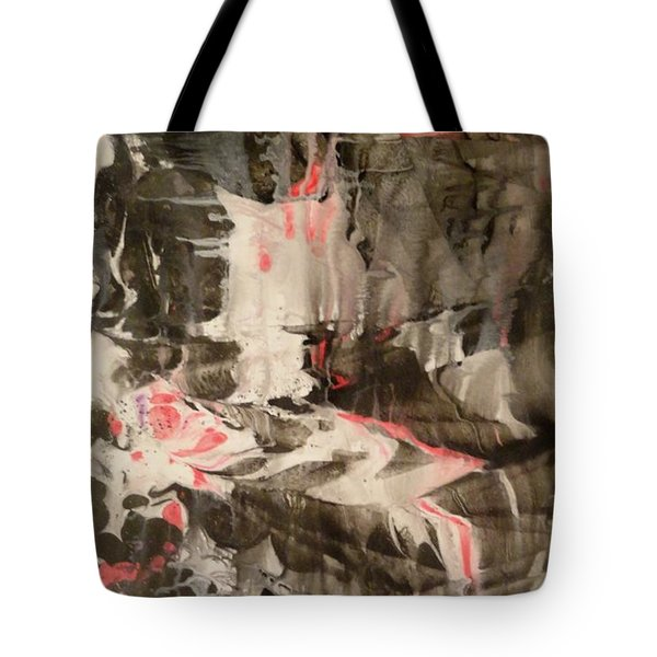 Tote Bag featuring the painting Facial Expressions by Mike Breau