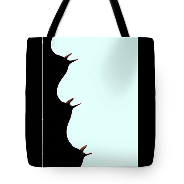 Tote Bag featuring the photograph Facing A Cathedral Cactus by Michael Hoard