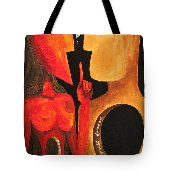Facing Destiny Tote Bag by Cris Motta